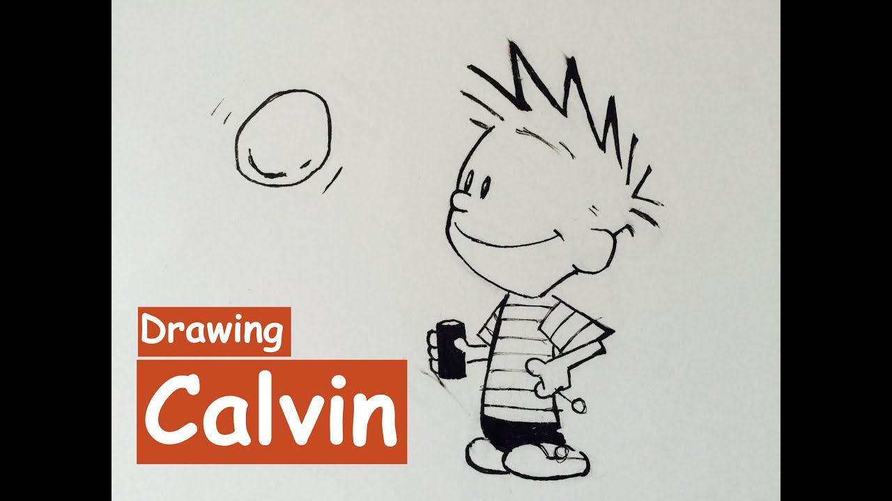 How To Draw Calvin From CALVIN and HOBBES  YouTube