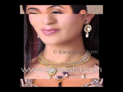 Fashion Designer Gold Jewelry, Indian Kundan Style Jewelry