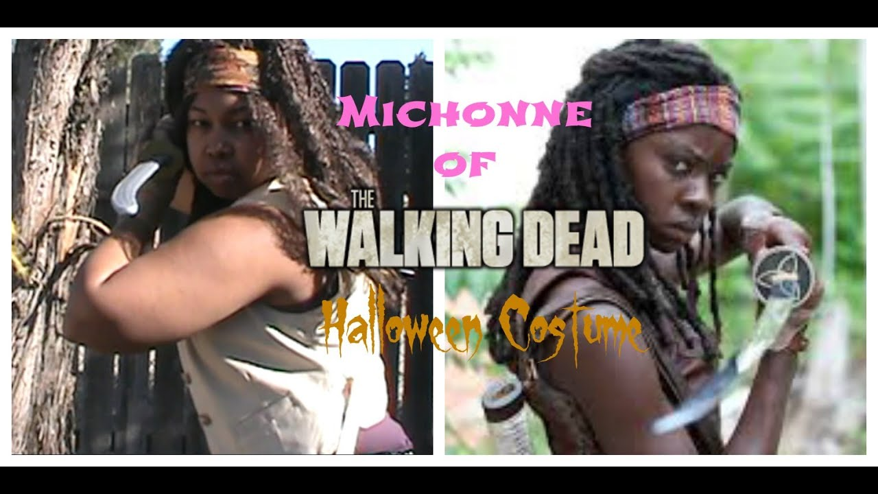 Michonne (The Walking Dead) Halloween Costume  sc 1 st  YouTube & Michonne (The Walking Dead) Halloween Costume - YouTube