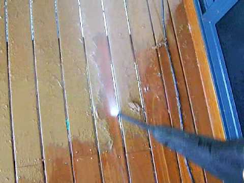 How To Remove And Strip Paint From The Deck Easy Way Using A Pressure Washer
