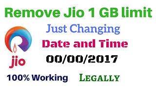 Remove Jio limit 1gb by changing Date and Time_100% Working  in Hindi