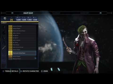 Injustice 2 - Joker Epic Gear Showcase/ Special Moves