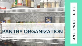 PANTRY ORGANIZATION + TOUR | 5 TIPS FOR AN ORGANIZED PANTRY | ORGANIZE WITH ME