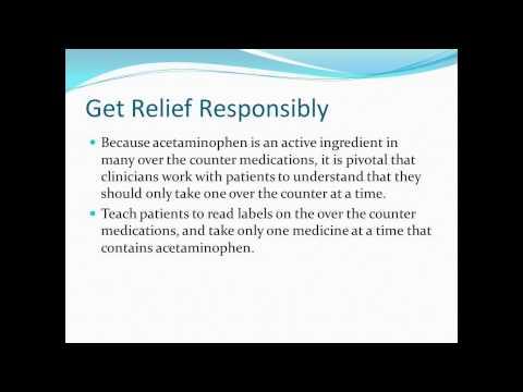Adult Acetaminophen Safety Webinar
