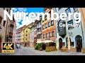 Nuremberg, Germany Walking Tour (4k Ultra HD 60fps)