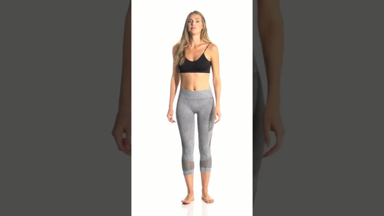 97ec4e9e52e6a NUX Network Mineral Wash Seamless Yoga Capris | SwimOutlet.com - YouTube