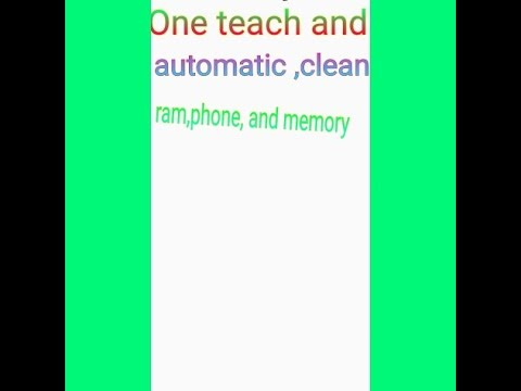 how to clean ram automatic one your android mobile