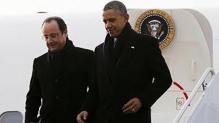 Fransa Cumhurbaşkanı Hollande ABD'de
