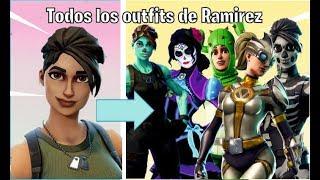 🔴ALL RAMIREZ SKINS ALL FORTNITE OUTFITS
