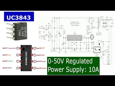 Make a 0-50V 10A Power Supply with UC3843 - YouTube