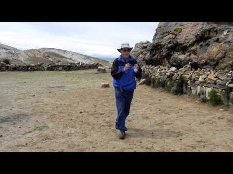 Dowsing for energy lines on the Island of the Sun in Lake titicaca