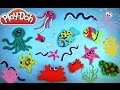 Play Doh Under The Sea Creatures! Fish Tank Creation