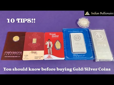 10 Tips for buying Gold/Silver Coins in India - Remember them! | Indian Bullionaire