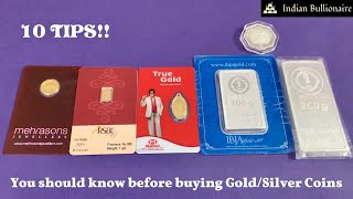 10 Tips for buying Gold/Silver Coins in India - Remember them!   Indian Bullionaire