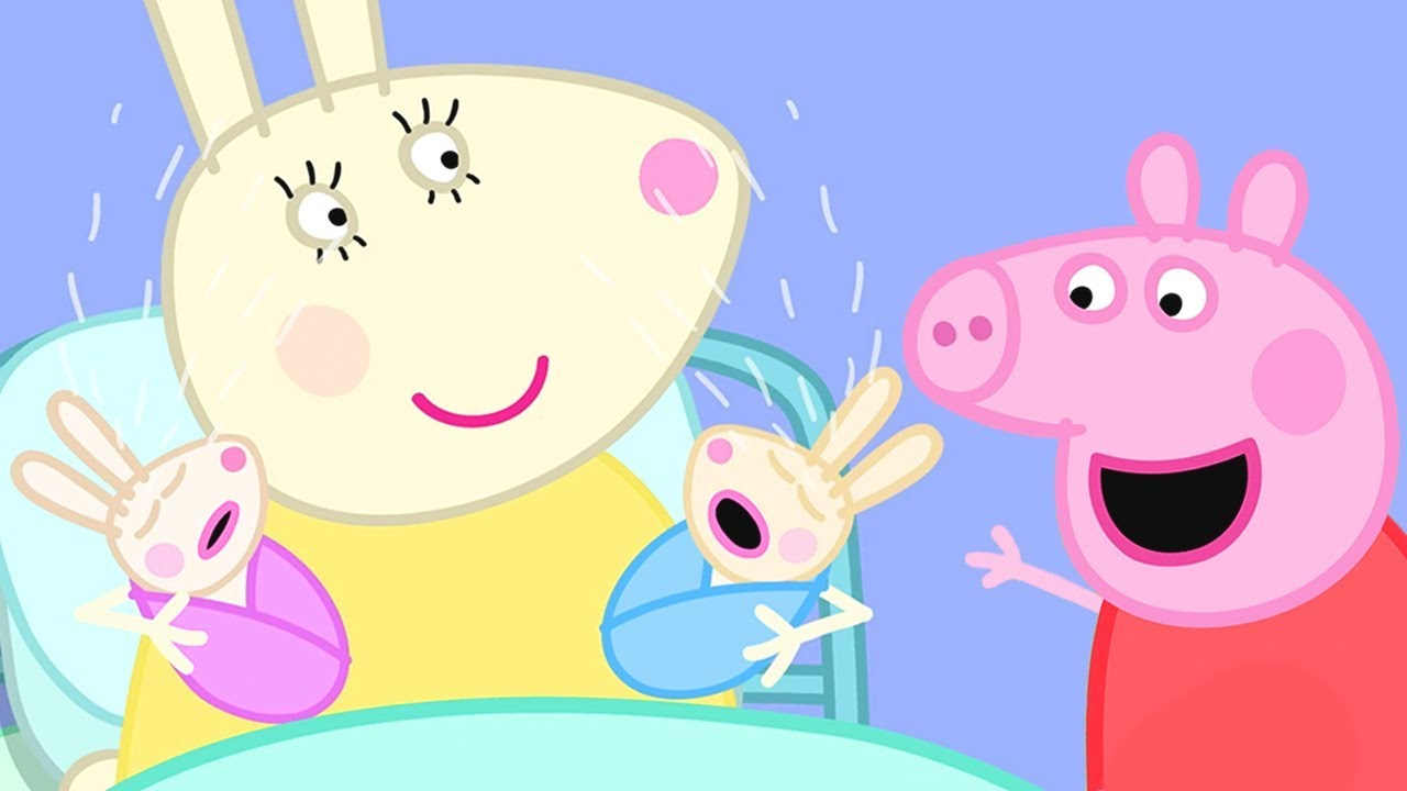 Peppa Pig English Episodes | Robbie and Rosie Rabbit! | Cartoons for Children #175