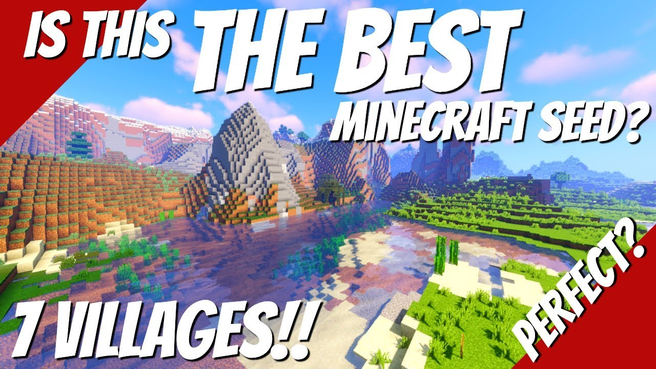 The Best Minecraft Seed? SEVEN Villages Near Spawn & Many Beautiful  Minecraft Biomes (Avomance 11)