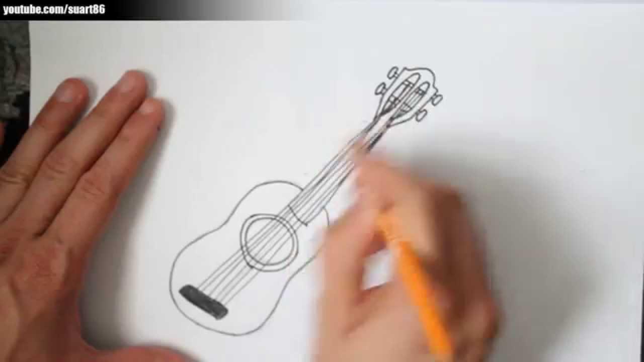 Como dibujar una guitarra  YouTube