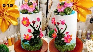 😍 🍰 Cake Icing Tutorials Buttercream Art (515) - Hoc Banh Online Dep Va Nhanh (515)