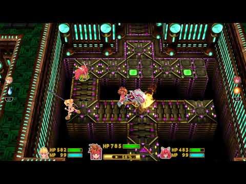 """Secret of Mana - Mana Fortress Part 1 """" King Vampire + Dread Slime Boss Fight """""""