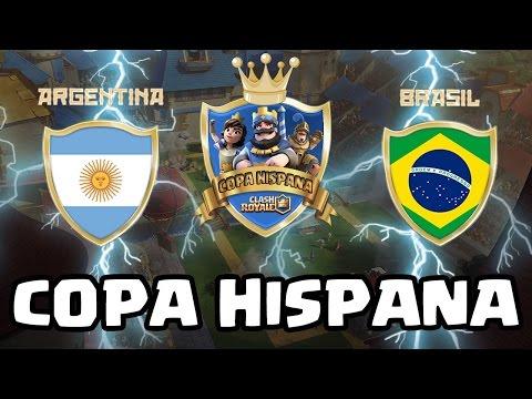 COPA HISPANA: ARGENTINA vs BRASIL  - KManuS88 - Clash Royale