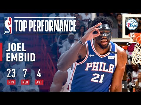 Joel Embiid Drops 23 Points In First Career Playoff Game