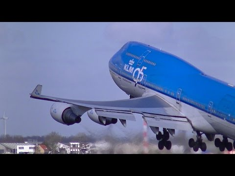50 Heavy's Landing and Take-off at Schiphol Intl. Airport (EHAM,AMS)
