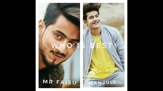 (mr faisu) Vs( manjull) who is the best  (#musicpleer)  Tik Tok live