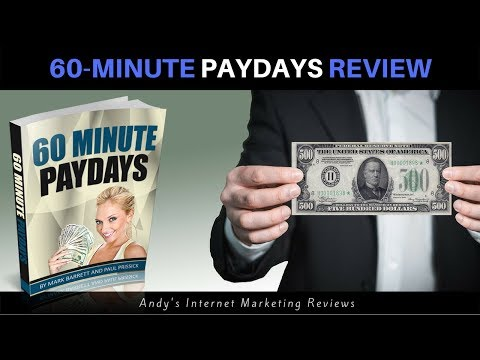 60 Minute Paydays Review -  Honest User Review