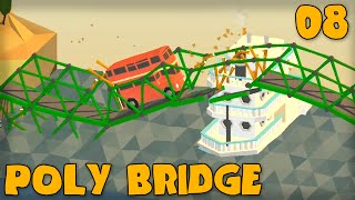 "Poly Bridge Gameplay Part 8 - ""more Duct Tape Please!!!"" (bridge Building Game)"