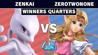 AON Ultimate #045 - Zenkai (Mewtwo) Vs ZT | ZeroTwoNone (Zelda) Winners Quarters - Smash Ultimate