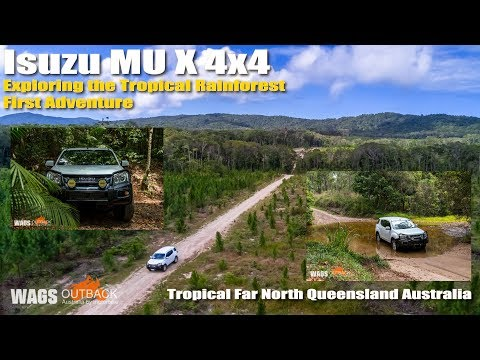 Isuzu MUX 4x4 Tropical Rainforest Water Crossings Queensland