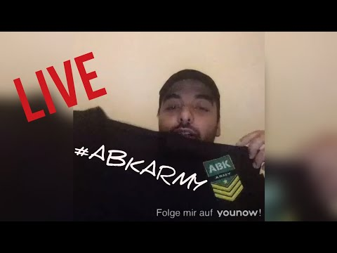 🔴 ABK ARMY LIMITIERTER MERCH [A.B.K Younow Livestream] [13.10.2018] [LIVE]