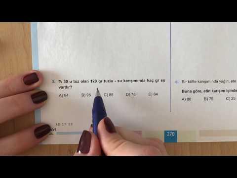 345 TYT Matematik Karışım Problemleri Test-1 Anlatımlı Çözümleri (2018-2019 Basım)