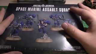 New Assault Marines unboxing and review (WH40K)