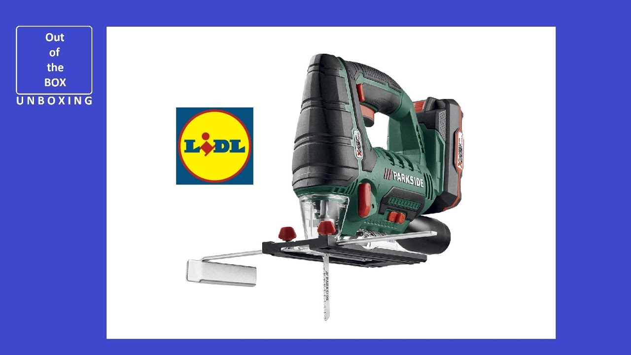 Parkside cordless jigsaw pstda 20 li a1 unboxing lidl 20v for Seghetto alternativo parkside lidl