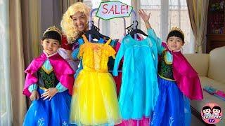 หนูยิ้มหนูแย้ม   ซื้อชุดเจ้าหญิงแสนสวย Shopping for Disney Princess Dresses