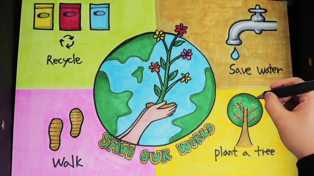 Environment Day Poster Ideas Save Earth Day Poster Drawing