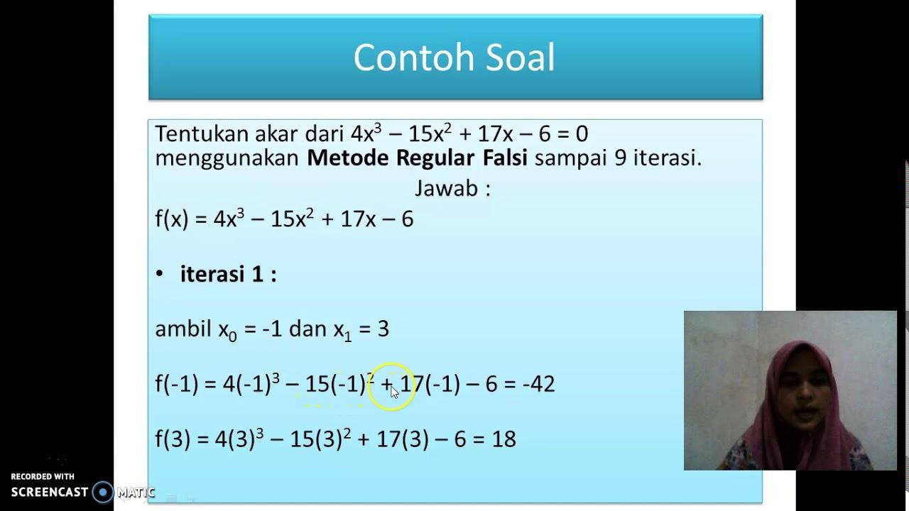 Pengertian 5g dan cara kerjanya; Contoh Latihan Soal: Contoh Soal Metode Numerik Bagi Dua
