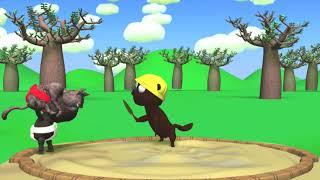 3Dアニメ 動物相撲