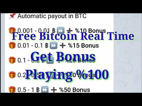 Free Bitcoin Bonus On Telegram Bot Paying 100%