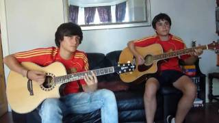 Waka Waka (This Time For Africa) English/Spanish Shakira Acoustic Cover with dance-Campeones!!