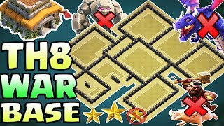 Town Hall 8 (TH8) War Base 2018 | Anti 3 Star / Anti Everything / Anti Dragon | Clash Of Clans