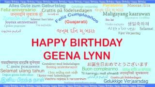 GeenaLynn   Languages Idiomas - Happy Birthday