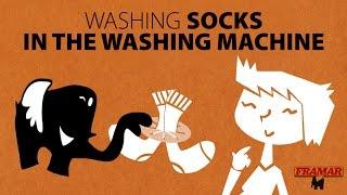 PAIR SOCKS IN THE WASHING MACHINE