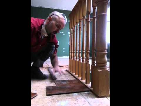 Laminate Floating Floor Installation With Sill Plate Stairs Part 2