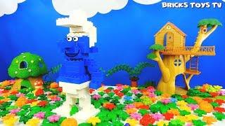 Строим из Lego Duplo, Lego Duplo gnome Smurfs - Лего Дупло делаем фигуру Смурфик, Смурф.