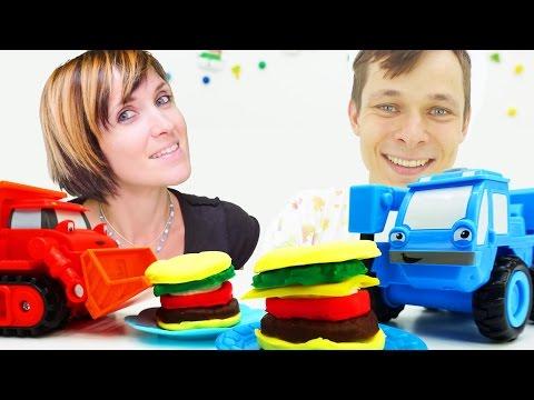 Видео для детей. Робокар Поли и другие игрушечные машинки в Кафе на дереве