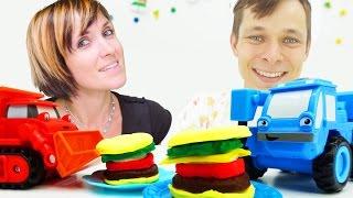 Видео для детей. Робокар Поли и машинки в Кафе на дереве