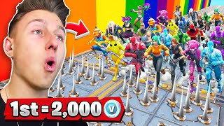 The WINNER gets 2000 V-Bucks! (TAKESHIS CASTLE in FORTNITE)