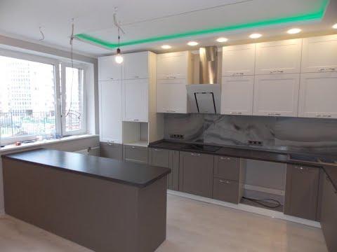Дизайн кухни на 20 кв.метрах. Кухня гостиная с островом